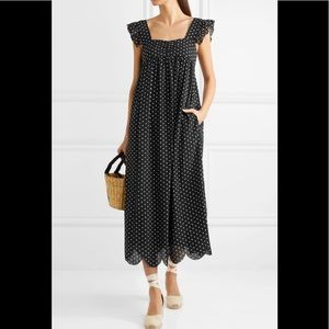 Alexa Chung Fifi polka dot jacquard midi dress